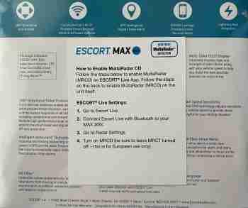 Escort Max360c with MRCD