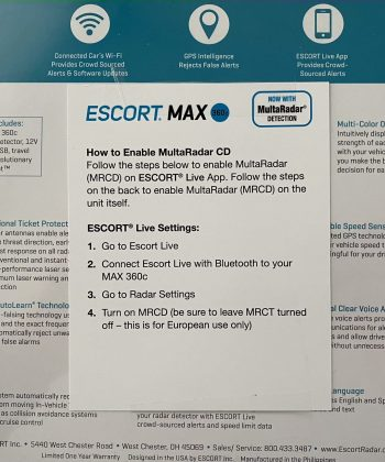 Escort Max360c with MRCD